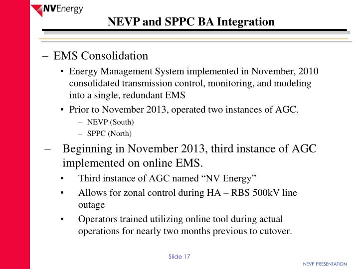 EMS Consolidation