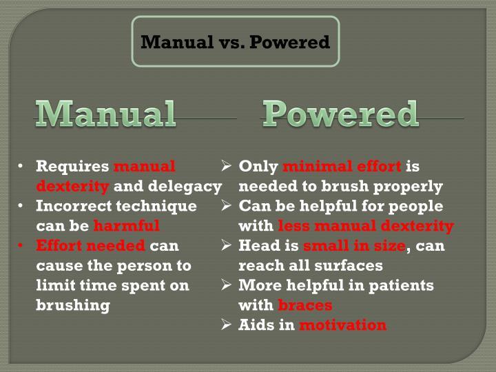Manual vs. Powered