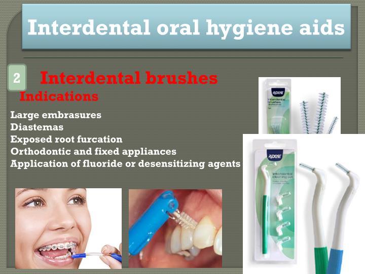 Interdental oral hygiene aids