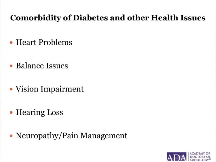 Comorbidity of Diabetes and other Health Issues