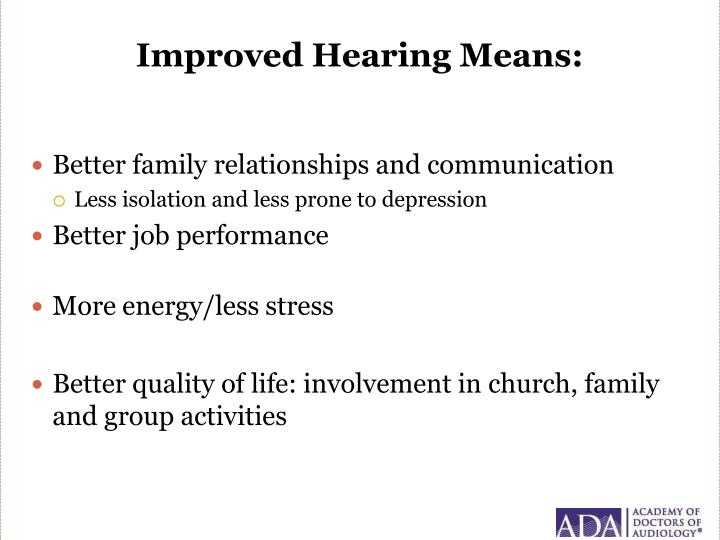 Improved Hearing Means: