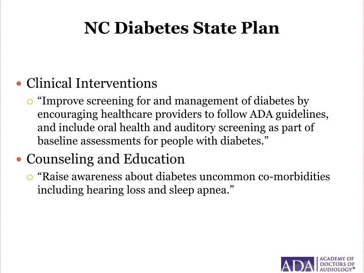 NC Diabetes State Plan