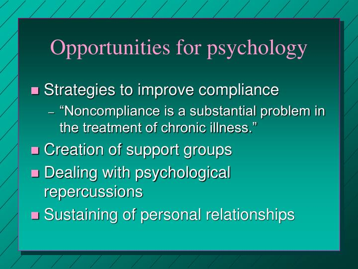 Opportunities for psychology