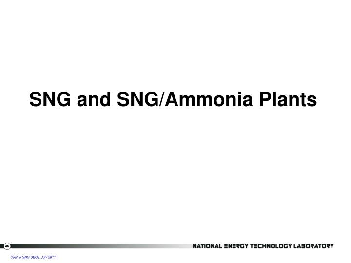 SNG and SNG/Ammonia Plants