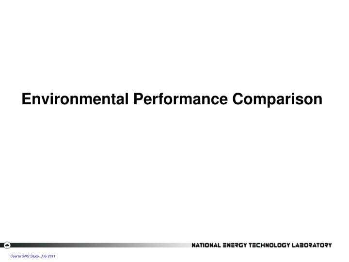 Environmental Performance Comparison