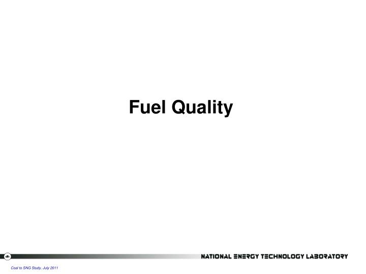 Fuel Quality