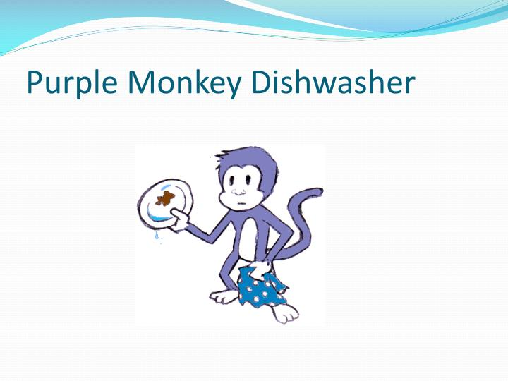 Purple Monkey Dishwasher