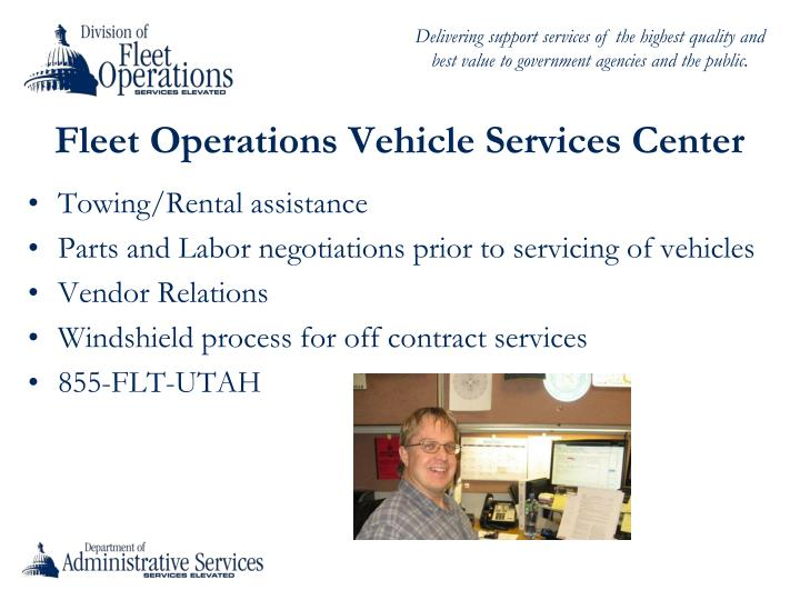 Fleet Operations Vehicle Services Center