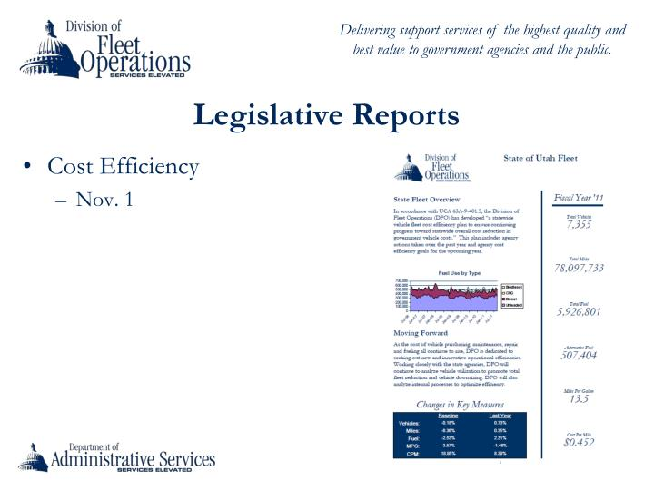 Legislative Reports