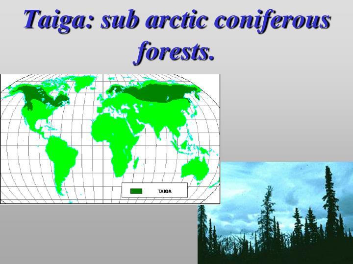 Natural Resources In Sub Arctic