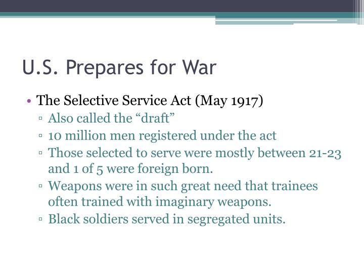 U.S. Prepares for War
