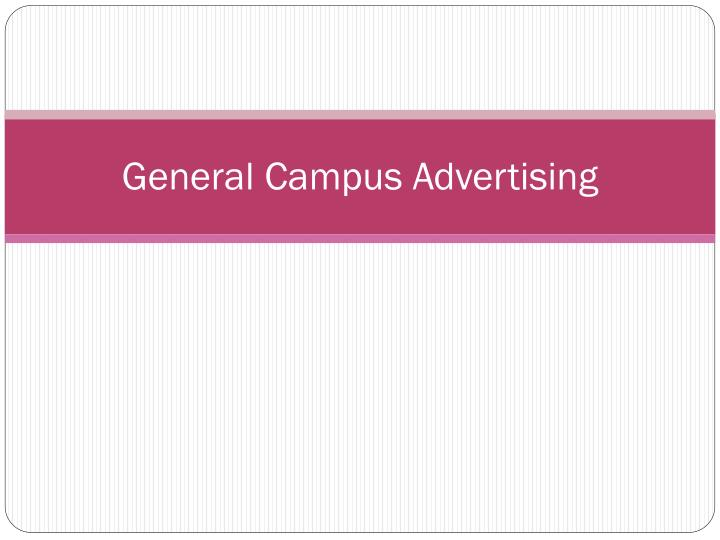 General Campus Advertising