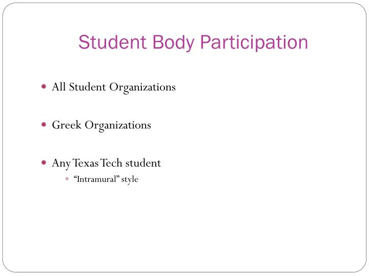 Student Body Participation
