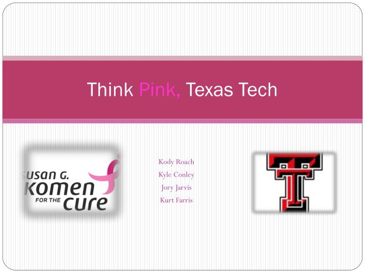 Think pink texas tech