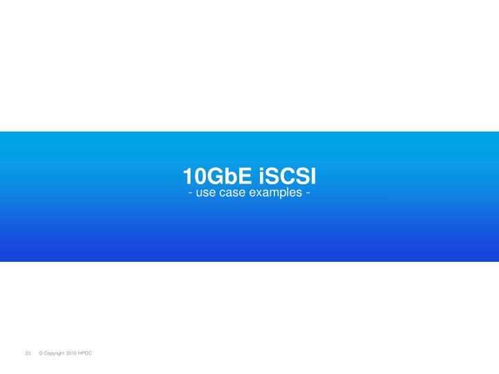 10GbE iSCSI