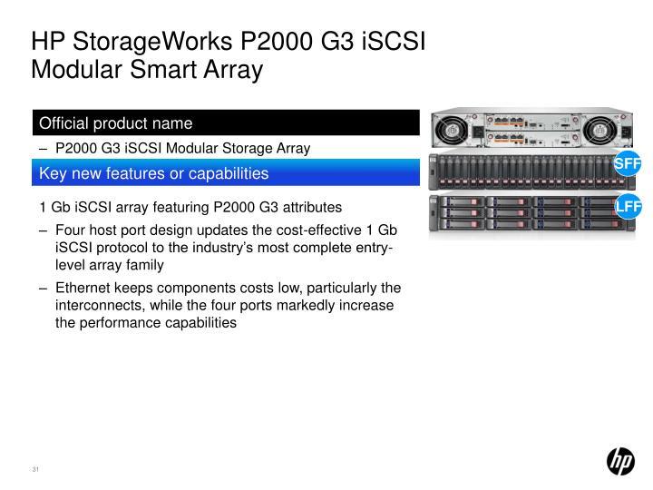 HP StorageWorks P2000 G3 iSCSI