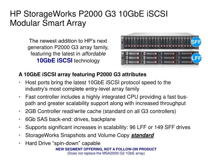 HP StorageWorks P2000 G3 10GbE iSCSI