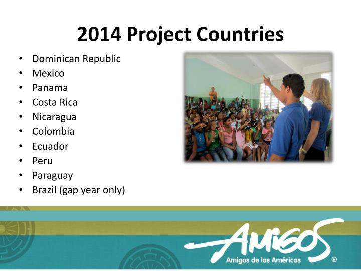 2014 Project Countries