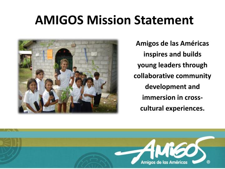 AMIGOS Mission Statement