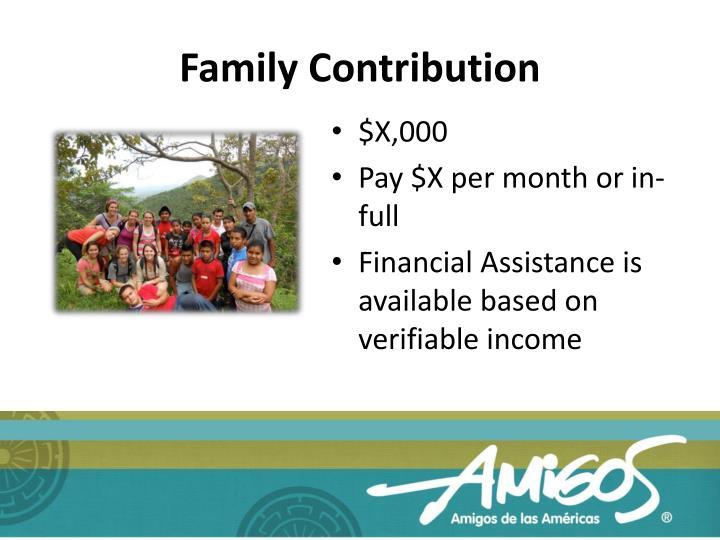 Family Contribution