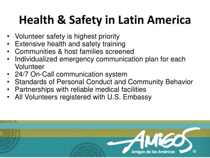 Health & Safety in Latin America