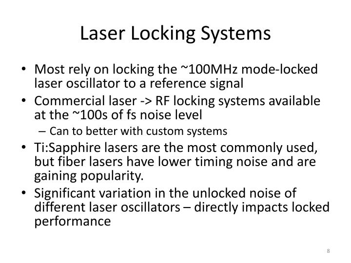 Laser Locking Systems