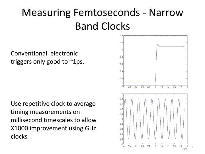 Measuring Femtoseconds - Narrow Band