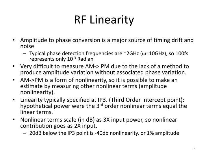 RF Linearity