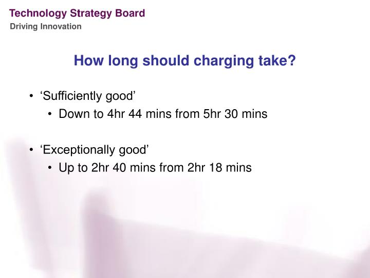 How long should charging take