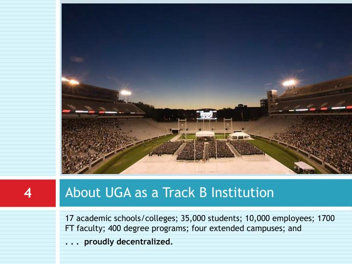 About UGA as a Track B Institution
