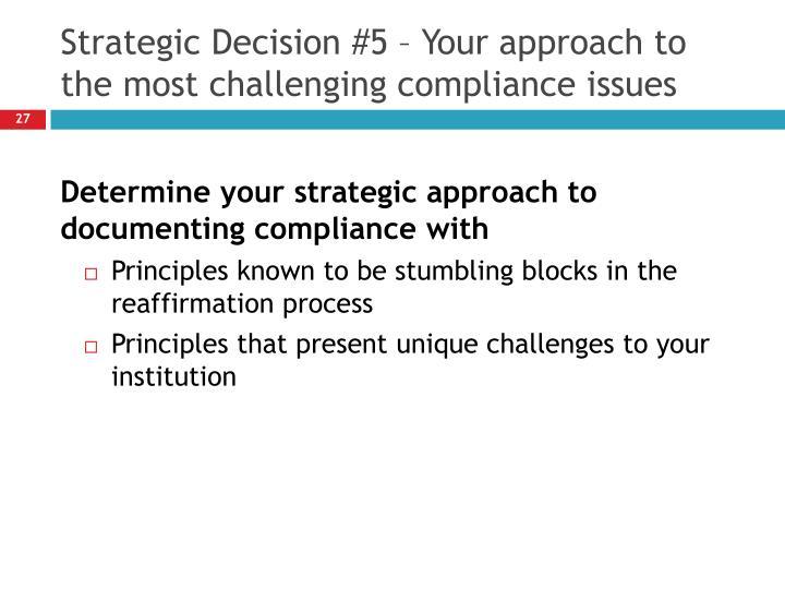 Strategic Decision #5 – Your
