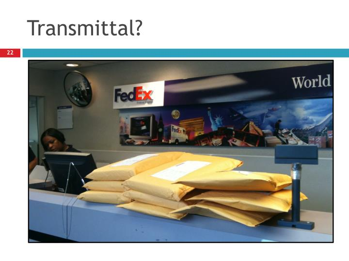 Transmittal?