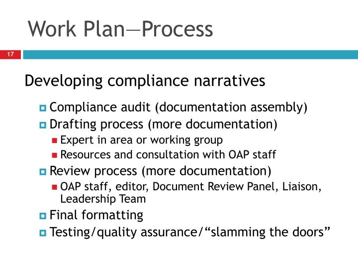 Work Plan—Process