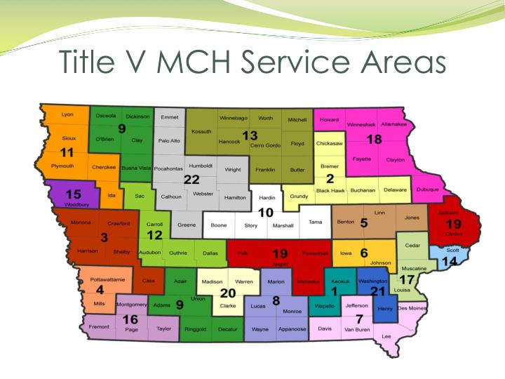 Title V MCH Service Areas
