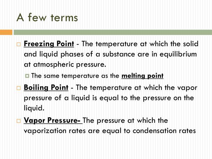 A few terms