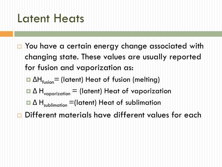 Latent Heats