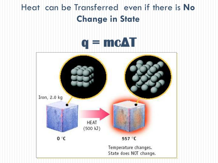 Heat  can be Transferred  even if there is