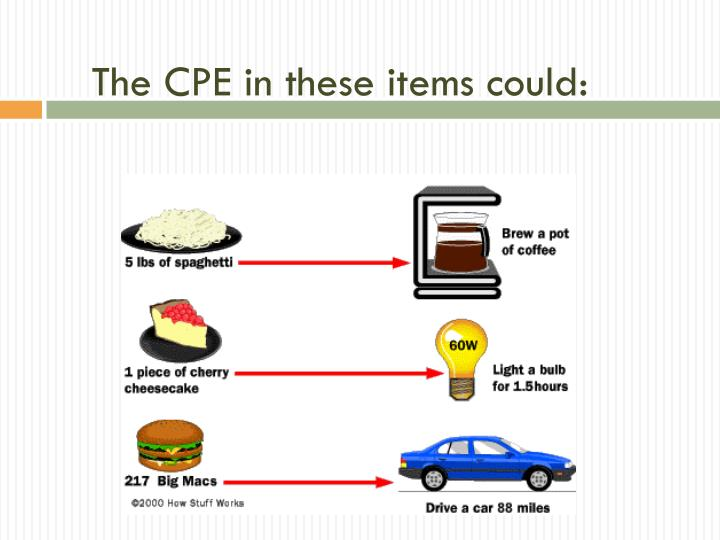 The CPE in these items could: