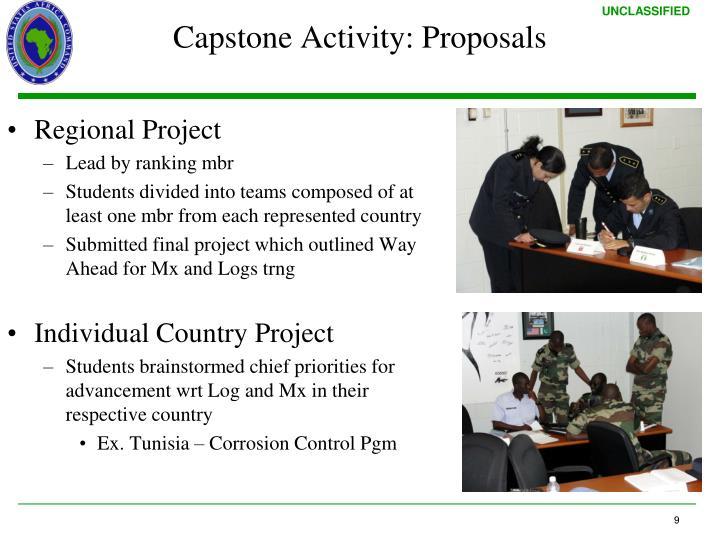 Capstone Activity: Proposals