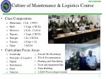 culture of maintenance logistics course1