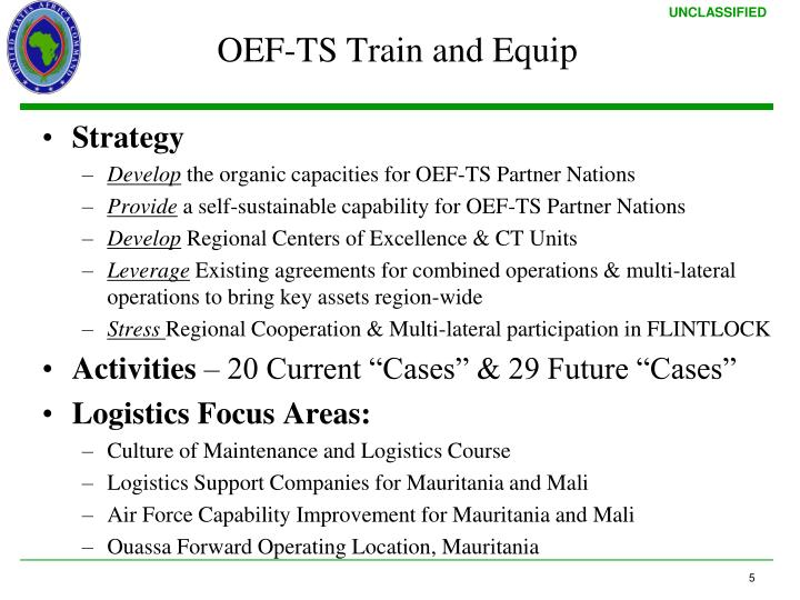 OEF-TS Train and Equip