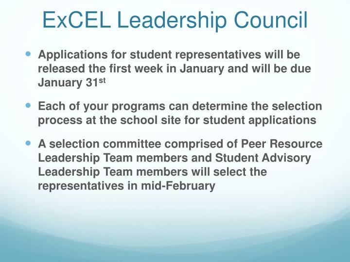 ExCEL Leadership Council