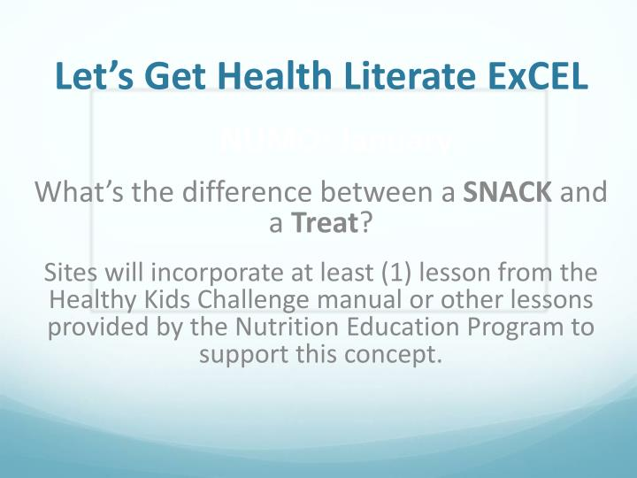 Let's Get Health Literate