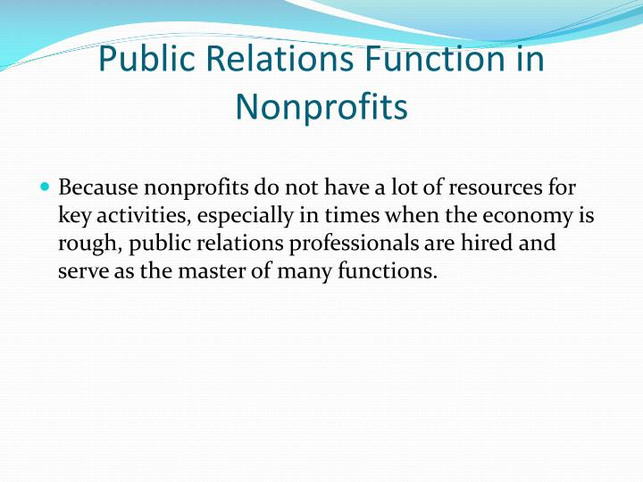 Function of public relation, College paper Example - tete-de