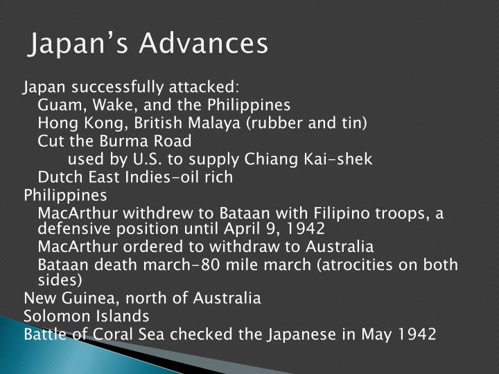 Japan's Advances