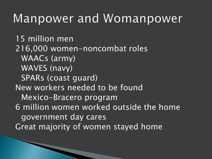 Manpower and Womanpower