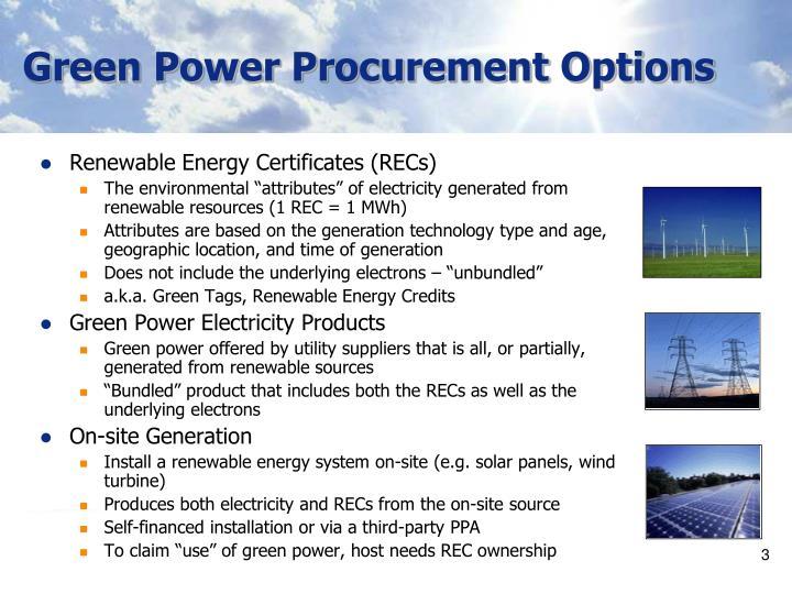 Green Power Procurement Options