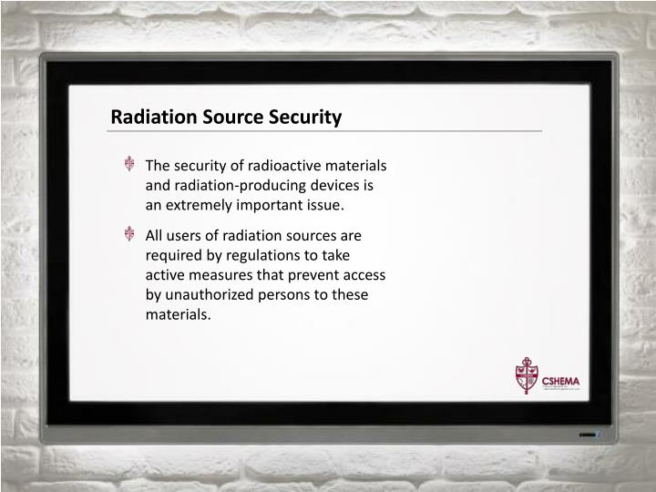 Radiation Source Security