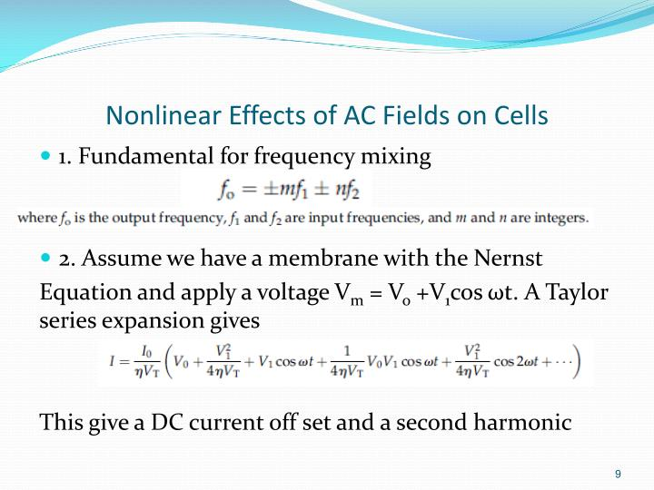 Nonlinear Effects of AC Fields on Cells