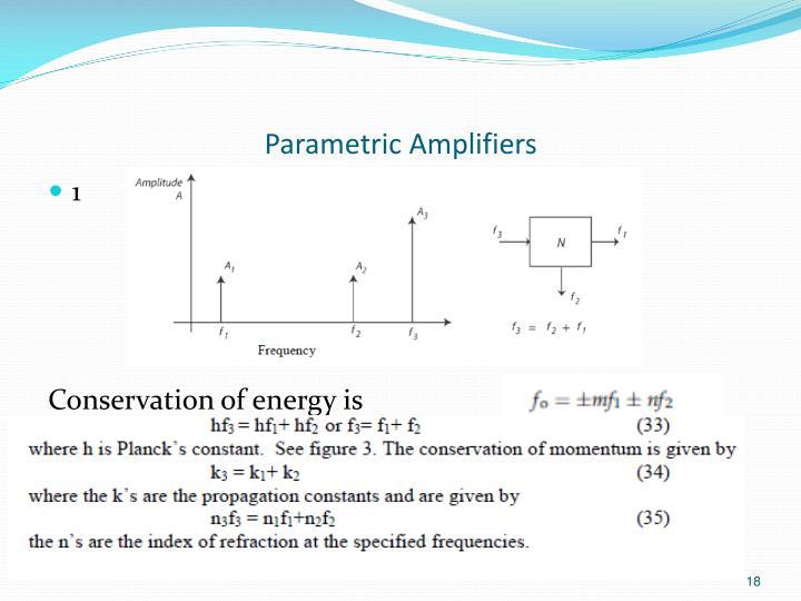 Parametric Amplifiers